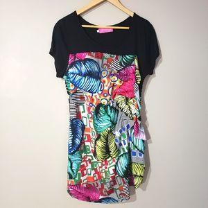 🦋3/$25 Crazy Fish Short Sleeve Tunic Top Print